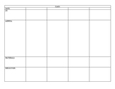 WEEKLY LESSON PLAN PACING CHART