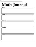 WEEKLY MATH JOURNAL