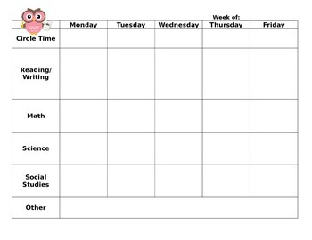 EDITABLE WEEKLY PLANNER - Quick, at-a-glance lesson plan to keep you organized!