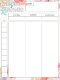 WEEKLY PLANNER -mtw