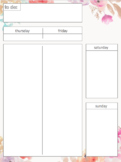 WEEKLY PLANNER - tfss