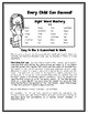 WEEKLY SIGHT WORD HOMEWORK for 1st Grade REACH for READING *Full Year