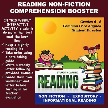 Reading NON FICTION Comprehension Booster for Grades 5 - 8