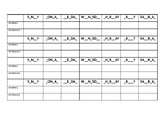 WEEKLY TIMETABLE - SUBJECTS -