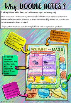 "WEIGHT and MASS - ""Doodle Notes"""