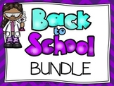 WELCOME BACK BUNDLE: Posters-Student Notes-HW Sign-Bathroom Passes-Stationary