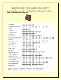 WELCOME BACK ENTIRE SCHOOL STAFF: A FUN WORD PUZZLE