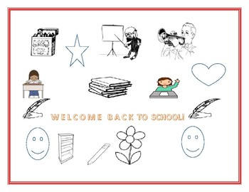 WELCOME BACK TO SCHOOL COLORING PAGE K-2