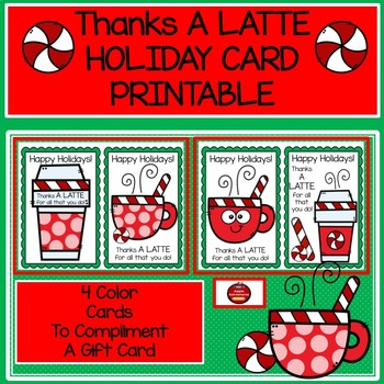 image regarding Thanks a Latte Printable referred to as Due A LATTE - Family vacation CARD PRINTABLE