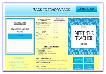 WELCOME BACK TO SCHOOL PACK