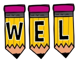 WELCOME BACK TO SCHOOL Pencil Banner