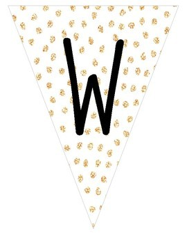 WELCOME BANNER (GOLD GLITTER)