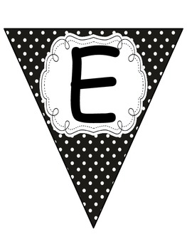WELCOME BANNER BLACK AND YELLOW DOTS