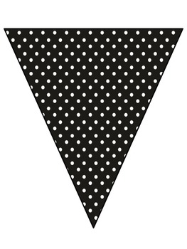 WELCOME BANNER BLACK POLKA DOTS