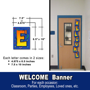 WELCOME BANNER - Classroom, Office, Lounge, Art room, Library, Tech