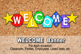 WELCOME BANNER -  -Digital File- Geometric Shapes, School
