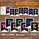 WELCOME BANNER – Digital file, Chalk, Loose style, School banner, Classroom