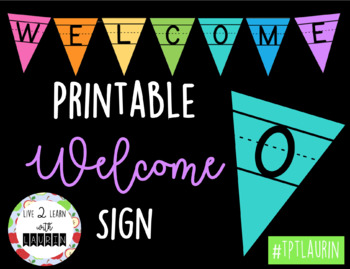 WELCOME BANNER (PRIMARY LETTERS)