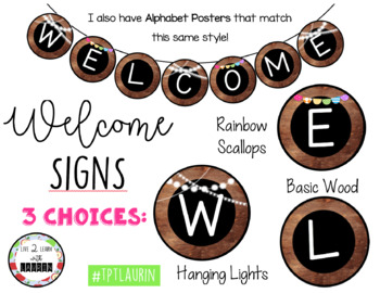 WELCOME BANNER (3 WOOD THEME CHOICES)