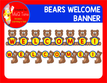 BEARS WELCOME BANNER