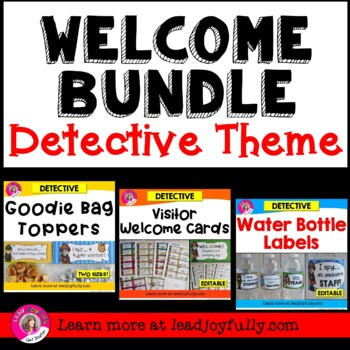 WELCOME BUNDLE (Detective Theme)