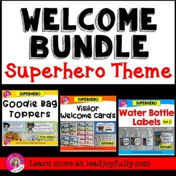 WELCOME BUNDLE (Superhero Theme)