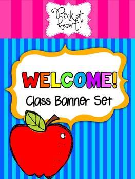 WELCOME Class Banner Set