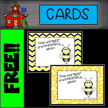 FREE Welcome Back to School Notes BEES Theme