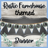 WELCOME Pennant Banner - RUSTIC FARMHOUSE Themed