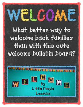 WELCOME SIGN for Bulletin Boards, Back to School