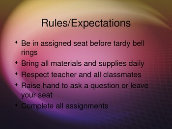 WELCOME TO MY CLASS: FOR THE PARENTS POWERPOINT