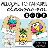 WELCOME TO PARADISE CLASSROOM DOOR DESIGN