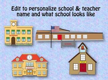 WELCOME TO SCHOOL editable book for preschool and kindergarten