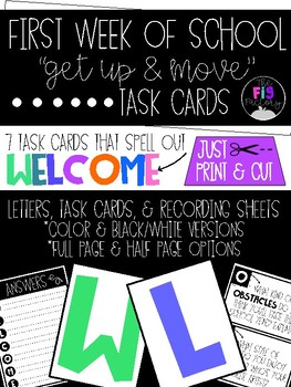 WELCOME Task Cards
