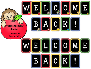WELCOME bunting (for Back to School)