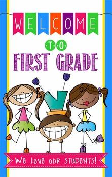WELCOME to 1st Grade - medium BANNER / 1st Grade