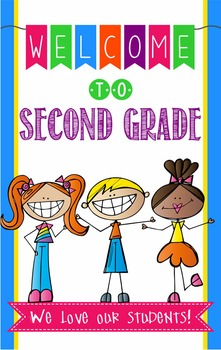 WELCOME to 2nd Grade - medium BANNER / SECOND GRADE