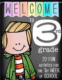 WELCOME to 3rd GRADE - 20 FUN activities for the first WEEK of SCHOOL