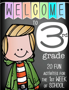 WELCOME to 3rd GRADE - 20 FUN activities for the first WEE