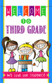 WELCOME to 3rd Grade - medium BANNER / THIRD GRADE