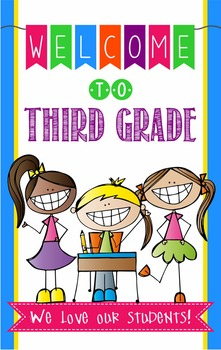 WELCOME to 3rd Grade - medium BANNER / THIRD GRADE by ARTrageous Fun