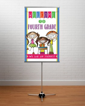 WELCOME to 4th Grade - medium BANNER / FOURTH GRADE