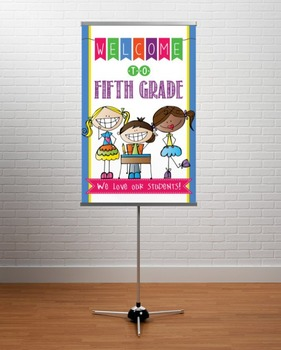 WELCOME to 5th Grade - medium BANNER / FIFTH GRADE