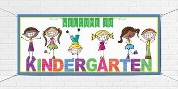 WELCOME to Kindergarten - large BANNER