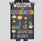 WELCOME to Kindergarten - medium BANNER / Chalk theme - Welcome to Kindergarten