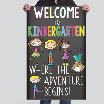 WELCOME to Kindergarten - medium BANNER / Chalk theme - Welcome to Kindergarten