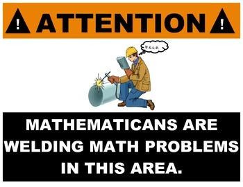 W.E.L.D. Math Posters