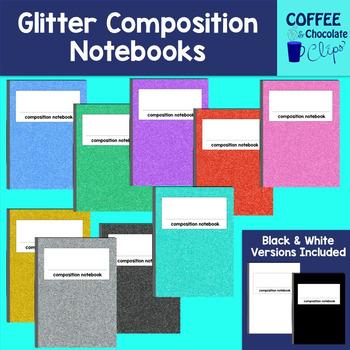 Glitter Composition Notebooks