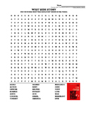 """WEST SIDE STORY WORD SEARCH! GREAT """"BACK TO SCHOOL"""" ACTIVITY!"""