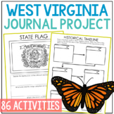 WEST VIRGINIA History Project, Differentiated State Research Journal {EDITABLE}